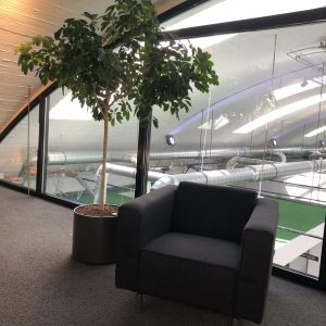 Splendorflex Cowork flex werkplekken in de Splendorfabriek - lounge stoelen